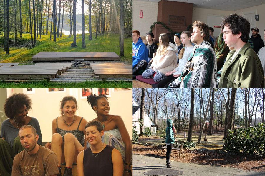 Four scenes from Massachusetts retreat