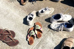Shoes of participants