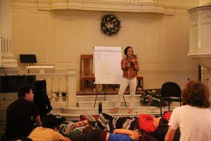 Jessica Morey teaching
