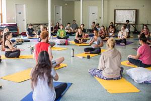 Yoga on retreat